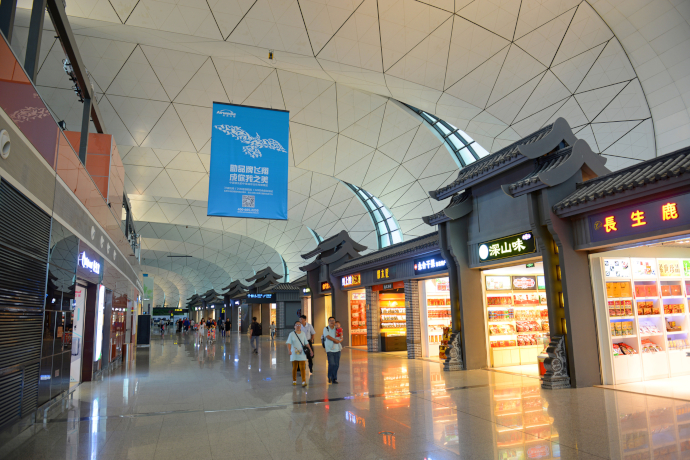 Taoxian Airport consists of a single passenger terminal (T3).